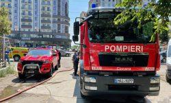 Incendiu într-un LOCAL din Capitală, în apropiere de Circ (FOTO). Flăcările au adus daune bucătăriei