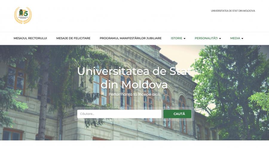 Universitatea de Stat din Moldova lansează site-ul aniversar dedicat celebrării a 75 de ani de la fondare