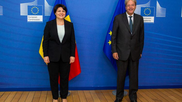Natalia Gavrilița a avut o întrevedere cu Paolo Gentiloni, comisar european pentru economie. Despre ce au discutat