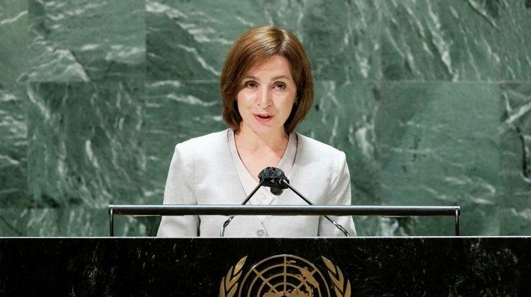 Maia Sandu – la ONU, despre corupție: Escrocii ne-au folosit ca țară de tranzit, pentru a spăla bani