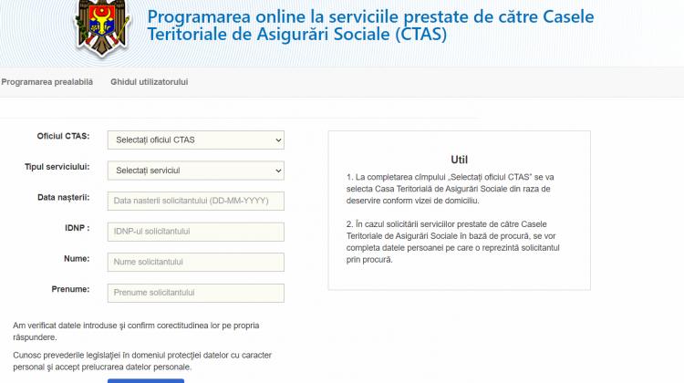 Programaţi-vă în regim online la CTAS pentru toate prestaţiile sociale. Recomandările CNAS