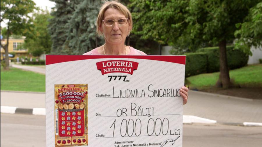 """O pensionară din Bălți a devenit milionară cu noul bilet """"Super Loto+"""""""