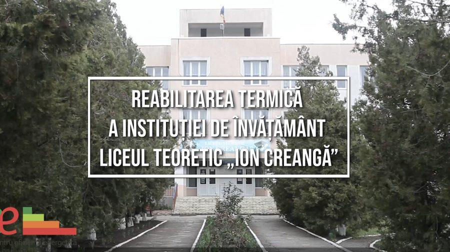 """Istorii de succes: Reabilitarea termică a Liceului Teoretic """"Ion Creangă"""" din s.Hîrbovăț, r-nul Anenii Noi"""