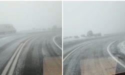 (VIDEO) Prima ninsoare din acest sezon pe Transfăgărăşan și la Bâlea Lac. Câte grade se așteaptă mâine dimineață