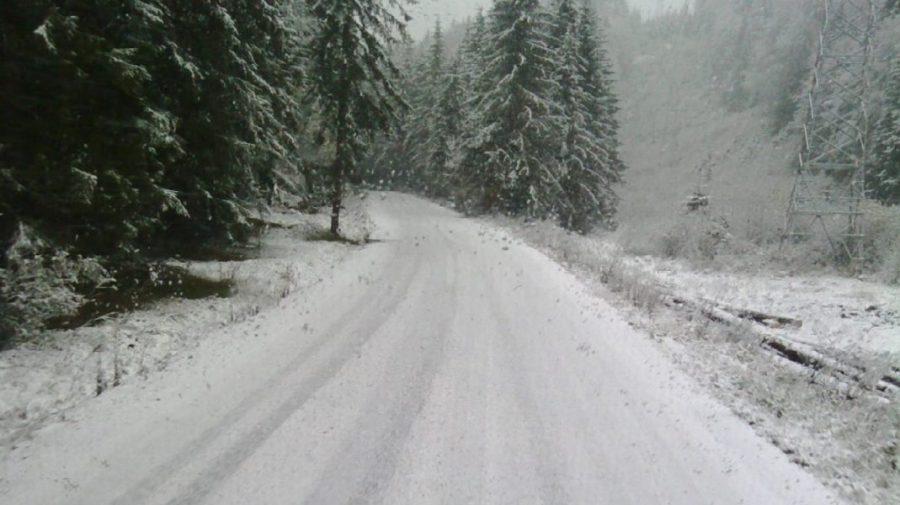 (VIDEO) Ninge în România: Zăpadă de 10 centimetri în Munții Făgăraș. Pe Transfăgărăşan se circulă în condiţii de iarnă