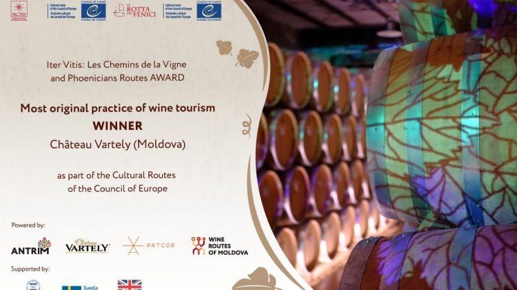 """O vinărie din Moldova, câștigătoare la categoria """"Cea mai originală practică în oenoturism"""" la un concurs internațional"""