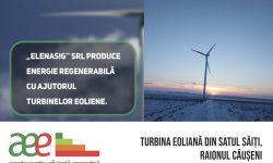 În satul Săiți, raionul Căușeni există o turbină eoliană