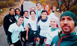 Octombrie Roz. Echipa maib a alergat pentru promovarea prevenției cancerului mamar