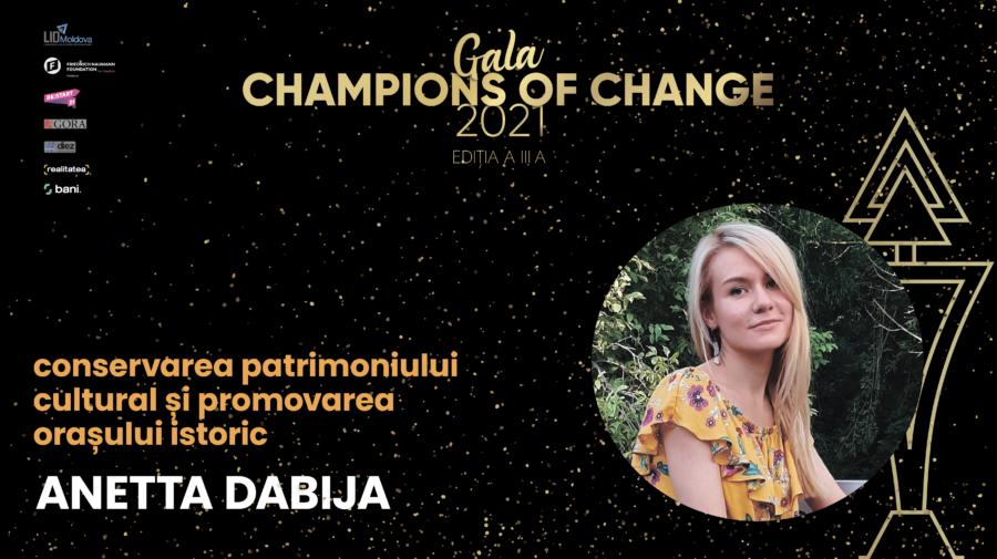 """Champions of Change 2021 – Anetta Dabija: """"Îmi doresc să locuiesc într-un oraș pentru oameni"""""""